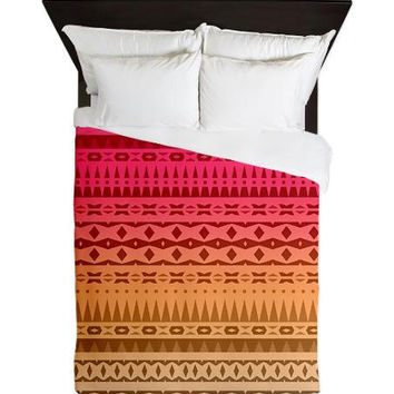 Tribal Queen Duvet Cover - Fire - Ornaart Design