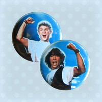 Bill and Ted's Excellent Pinback Buttons Set of 2 by Buttonhead
