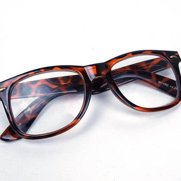 vintage 90s tortoise shell wayfarer 2.25 reading glasses oversized round plastic frames men women eyewear retro eyeglasses readers cheaters