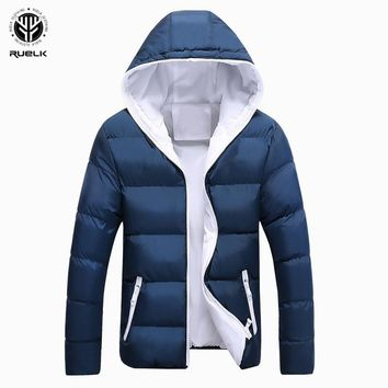 213d49ee86f94 RUELK New Winter Thick Warm Cotton Male Jacket Men Parka Faux Ho