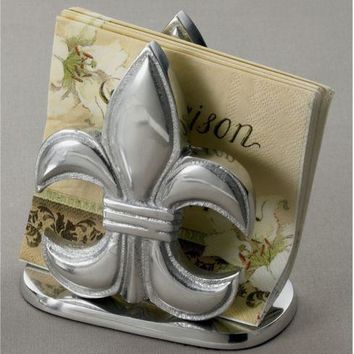 Napkin Holder Elegant Decor Restaurant Table Kitchen Centerpiece Metal Silver