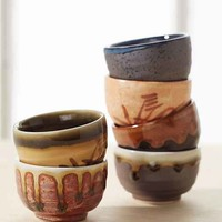 Ceramic Sake Shot Set- Multi One