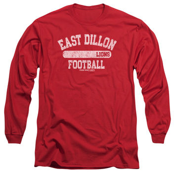 FRIDAY NIGHT LIGHTS/LIONS PILL BOX - L/S ADULT 18/1 - RED - SM - Red -
