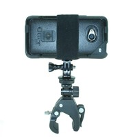 GoPro Style Handlebar Mount with Action Mount® Adapter for Smartphone, Operable with Any Smartphone. Strongest Hold on the market. Phone Mount for Gopro Iphone 5s 5 4s Samsuang Galaxy S5 S4 S3. Don't Waste Money on a Gopro! Easy to Use!
