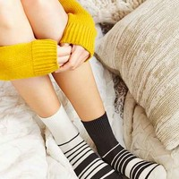 Mismatched Stripe Crew Sock