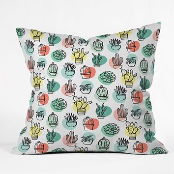 Zoe Wodarz Summer Days Cactus Throw Pillow