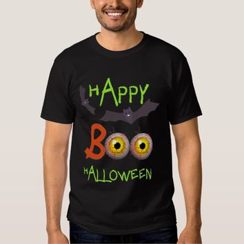 Boo Scary Zombie Eyes Halloween Themed T-Shirt
