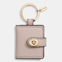 Leather Turnlock Picture Frame Key Ring
