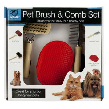 Pet Brush & Comb Grooming Set ( Case of 12 )