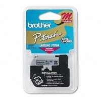 "Brother M Series Tape Cartridge for P Touch Labelers, Black on Silver, 3/8"" Width (BRTM921) Category: Label Maker Tapes and Ribbons"