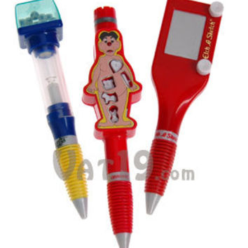 Classic Game Pens: Boggle, Etch-A-Sketch, and Operation Pens