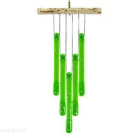 Frog Spots Green Glass Wind Chime, Froggy Windchime - Edit Listing - Etsy