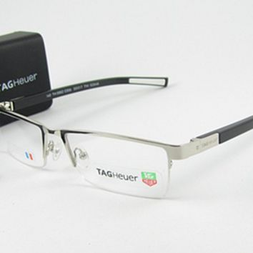 TAG HEUER HALF RIMLESS MODEL TH-0882 EYEGLASSES UNISEX SIZE 53-17-140