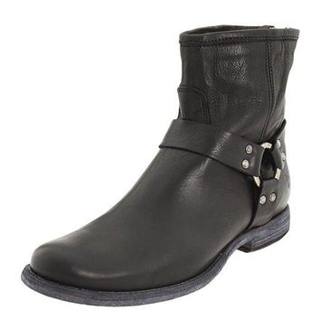 DCCKAB3 Frye Black Phillip Harness Short Leather Boots