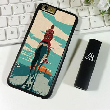 Jordan Riding Horse Michael Jordan iPhone 6 Plus | 6S Plus Case Planetscase.com