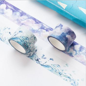 Creative watercolor paper tape DIY washi tape decoration tape scrapbooking planner masking tape office Stationery sticker gifts