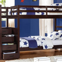 Penn Twin over Twin Stairway Bed