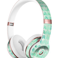 Green Watercolor Arches Pattern Full-Body Skin Kit for the Beats by Dre Solo 3 Wireless Headphones