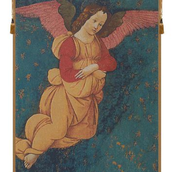 Angels Altarpiece Vertical Tapestry Wall Art Hanging