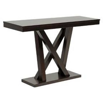 Everdon Modern Sofa Table Dark Brown - Baxton Studio : Target