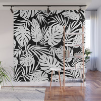 Urban Jungle Black Wall Mural by heatherduttonhangtightstudio
