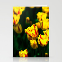 Yellow tulip flowers Stationery Cards by Digital2real