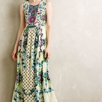 Embroidered Canaria Maxi Dress by Hemant & Nandita Neutral