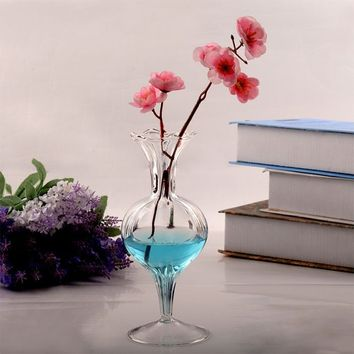 Elegant Romantic Glass Bowl Vase Decoration Flower Stand Supplies