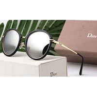 Dior Women Trending Popular Summer Sun Shades Eyeglasses Glasses Sunglasses Black G-A-SDYJ