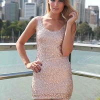 SEQUIN ROSE GOLD DRESS , DRESSES, TOPS, BOTTOMS, JACKETS & JUMPERS, ACCESSORIES, SALE, PRE ORDER, NEW ARRIVALS, PLAYSUIT, COLOUR,,Pink,Sequin Australia, Queensland, Brisbane