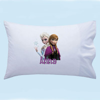 Personalized Frozen Sisters Elsa and Anna from Disneys Frozen custom Pillowcase