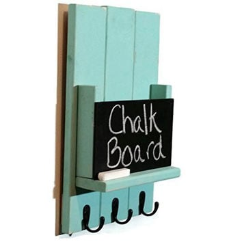 Sydney Mail Organizer and Key Rack with Chalkboard - Painted Version