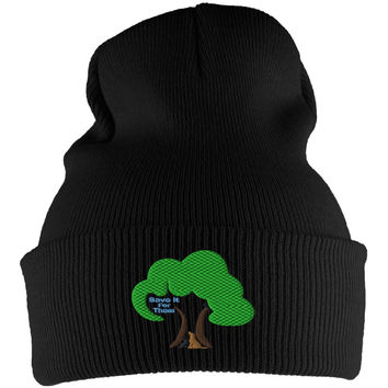 Earth Day Arbor Day Save It For Them Black Knit Beanie