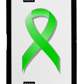 Lyme Disease Awareness Ribbon - Lime Green Black Jazz Kindle Fire HD Cover by TooLoud
