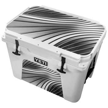 Black and White Metal  Skin for the Yeti Tundra Cooler