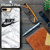 White Marble Nike E1396 iPhone 7 Plus Case