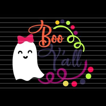 Boo Y'all SVG, Halloween svg,Ghost svgs,Ghost Monogram svg,Ghost svg,halloween svg files, halloween vector,Cricut Designs,Silhouette Designs