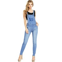 Twilight Denim Skinny Overalls