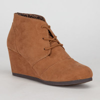 City Classified Rex Womens Wedges Chestnut  In Sizes