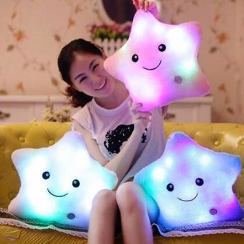 Led Light Pillow Stars plush