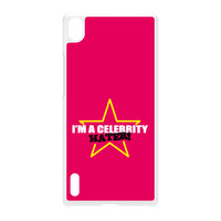 Celebrity Hater White Hard Plastic Case for Huawei P7 by Chargrilled