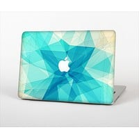 The Vector Abstract Shaped Blue Overlay V2 Skin Set for the Apple MacBook Air 13""
