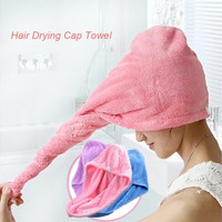 Strong Water Absorbing Microfiber Dry Hair Towel Wrap Bathing Shower Cap [9302535626]