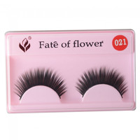 10 Pairs Synthetic Fiber Natural Long False Eyelashes Black FOF-021 (without glue) - Default