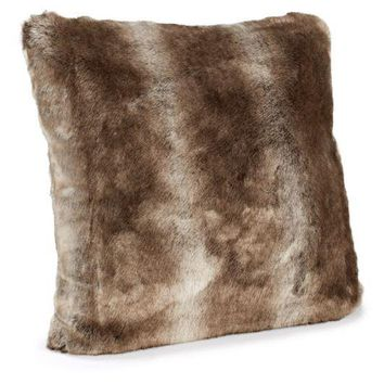 Timber Wolf Faux Fur Pillows by Fabulous Furs