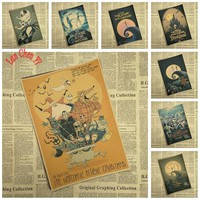 Animation Old Painting The Nightmare Before Christmas Kraft Paper Poster Bar Cafe Decorative Painting