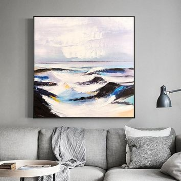 Abstract paintings on canvas original art acrylic black painting sea wave textured painting Wall pictures cuadros abstractos hand painted