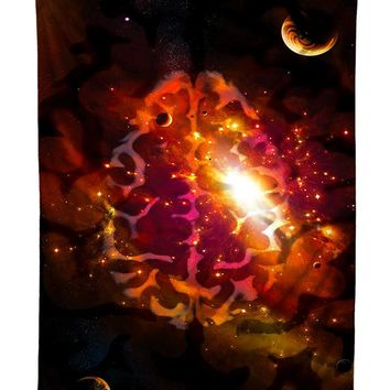 Mindful Space Brainstorm Galaxy Tapestry