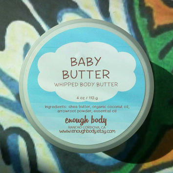 Baby Butter Whipped Body Butter ~ Shea Body Butter ~ Body Lotion ~ Body Cream ~ All Natural ~ Lavender Body Butter
