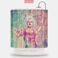 Fab Ciraolo Art Marilyn Monroe Shower Curtain Home & Living Bathroom 147